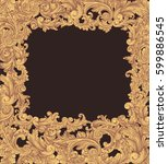 victorian baroque floral... | Shutterstock .eps vector #599886545