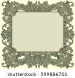 victorian baroque floral... | Shutterstock .eps vector #599886701