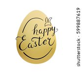 "lettering ""happy easter"" with... 