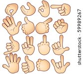 cartoon hands collection ... | Shutterstock . vector #59989267