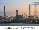 oil refinery plant industry at... | Shutterstock . vector #599893205