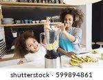 beautiful african american...   Shutterstock . vector #599894861