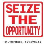 seize the opportunity text  on... | Shutterstock . vector #599895161