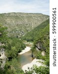 Small photo of Gorges du Tarn or Tarn canyon in France