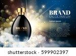 realistic perfume black bottles ...   Shutterstock .eps vector #599902397
