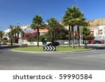 palm trees landscape and the... | Shutterstock . vector #59990584