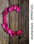 Small photo of petal alphabet, alphabet, rose alphabet