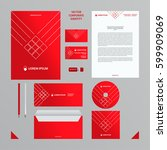 corporate identity business...   Shutterstock .eps vector #599909069