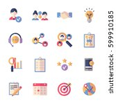 social media icons set 2   flat ... | Shutterstock .eps vector #599910185