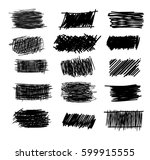 set of simple bold hatching... | Shutterstock .eps vector #599915555