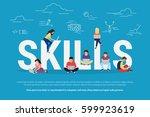 skills development concept... | Shutterstock .eps vector #599923619