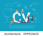 cv concept vector illustration... | Shutterstock .eps vector #599923625