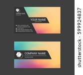 colorful abstract business card ... | Shutterstock .eps vector #599924837