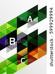 vector minimalistic triangle... | Shutterstock .eps vector #599929994