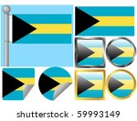 flag set bahamas | Shutterstock .eps vector #59993149
