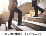 close up legs of businessman... | Shutterstock . vector #599941709