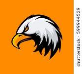 furious eagle head mono sport... | Shutterstock .eps vector #599944529