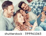 group of friends taking a... | Shutterstock . vector #599961065