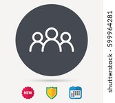 people icon. group of humans... | Shutterstock .eps vector #599964281