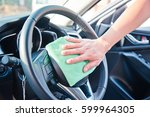 hand cleaning the car interior...   Shutterstock . vector #599964305
