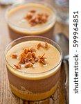 sea salted caramel and belgian... | Shutterstock . vector #599964851
