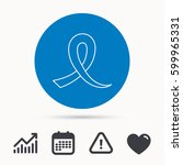 awareness ribbon icon. oncology ... | Shutterstock .eps vector #599965331