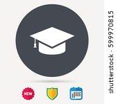 education icon. graduation cap... | Shutterstock .eps vector #599970815