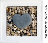 Heart Shaped Stone In A Frame