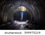 Small photo of Underground Air Shaft - Old abandoned Train Tunnel