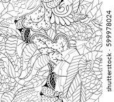 tracery seamless calming... | Shutterstock .eps vector #599978024