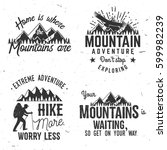 set of extreme adventure badges.... | Shutterstock .eps vector #599982239