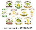 cereal product icons. vector... | Shutterstock .eps vector #599982695