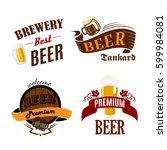 beer pub  bar and brewery icons.... | Shutterstock .eps vector #599984081