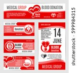 blood donation posters or... | Shutterstock .eps vector #599984315