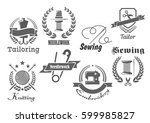 sewing or tailor vector icons.... | Shutterstock .eps vector #599985827