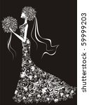 vector elegant bride  hairdress ...   Shutterstock .eps vector #59999203
