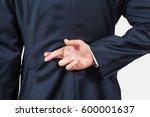 businessman tellimg lies ... | Shutterstock . vector #600001637
