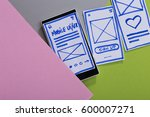 mobile interface design  user... | Shutterstock . vector #600007271