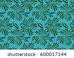 bright hawaiian seamless... | Shutterstock . vector #600017144