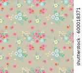 flowery bright pattern in small ... | Shutterstock .eps vector #600018371