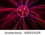 Red And Purple Plasma Ball 18