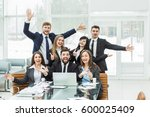 success concept in business   a ... | Shutterstock . vector #600025409