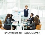 business team gives a... | Shutterstock . vector #600026954