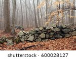 New England Rock Wall In The...