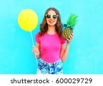 fashion pretty smiling woman... | Shutterstock . vector #600029729