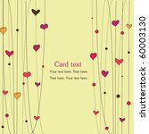 love card with hearts | Shutterstock .eps vector #60003130