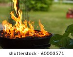 grill in flames close up | Shutterstock . vector #60003571