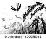vector silhouette illustration... | Shutterstock .eps vector #600058361