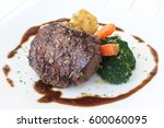 Small photo of Strip loin steak and grill vegetables