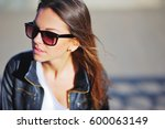 portrait of a young beautiful... | Shutterstock . vector #600063149